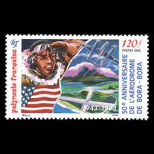 French Polynesia 1993 - 50th Anniv the Bora Bora Airfield Aviation - Sc 615 MNH