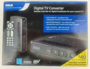 RCA ~ DTA800B Digital-to-Analog TV Converter Box Smart Antenna Ready ~ New