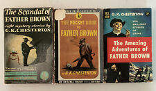 Lot Of 3 G.k. Chesterton Vintage Mysteries Pocket Book, Amazing Adventures, Etc.