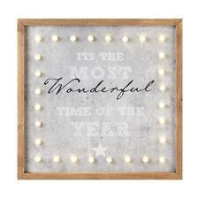 Christmas LED Light Up Framed Square Sign