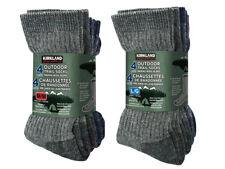 Kirkland Signature Merino Wool Hiking Trail Socks 4 Pair M or L Made in USA