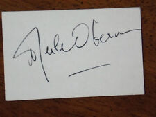 MERLE OBERON SIGNED 2X3 CARD IN FOUNTAIN PEN