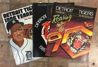 Lot of 3 Detroit Tigers Baseball Yearbook; 1984; 1986; 1990