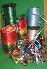 """Lot Of 7 Rolls Curling Ribbon 3/16""""- Balloon Strings- Party-Gift Wrap-multicolor"""