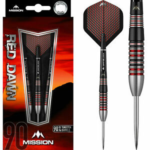 Mission Red Dawn Front Loaded. 90% Tungsten 24g, 22g Darts Set + Free Wallet UK