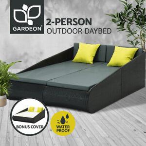 Gardeon Outdoor Sun Lounge Day Bed Wicker Furniture Rattan Sofa Garden Pool