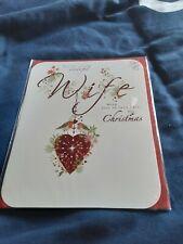 Wife Christmas Card BNIP - heart