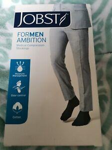 JOBST for Men Ambition Medical Compression Black Stocking Socks - CCL1 SIZE4 REG