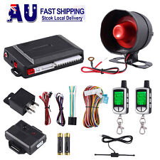 12V Car Alarm Security System Kit Pager LCD Remote Control Keyless Entry AU