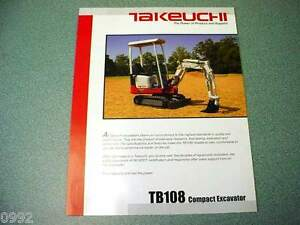 Takeuchi TB108 Compact Excavator Brochure