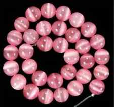 10mm Pink Mexican Opal Round Gemstone Loose Beads 15