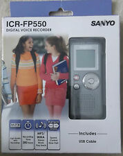 Sanyo ICR-FP550 1GB - up to 280 hours- Digital MP3 Voice Recorder PLEASE READ