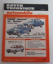 Revue technique automobile RTA 477 Ford escort & orion 1986 ->C CL Ghia XR31 RS