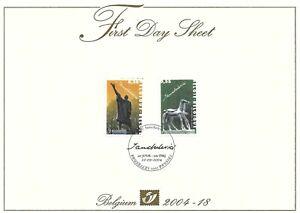 [FDS137] Belgium FDS 2004-18 Art First Day Sheet SUPERB