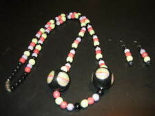 Women's Vintage Jewelry Set - Necklace and Earrings - Semi-Precious? Stones