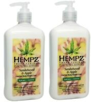 Hempz SANDALWOOD & APPLE Herbal Body Moisturizer Fusions Lotion 17 oz - 2PACK
