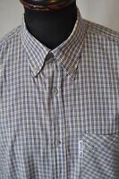 Ben Sherman blue check shirt size large western rockabilly mod ska