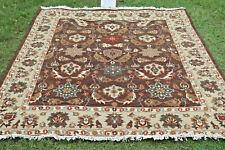 Brown Soumak Hand Woven Wool Turkish Kilim Dhurrie Afghan Oriental Area Rug 8x10