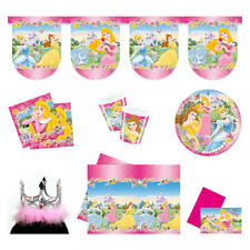 DISNEY PRINCESS COMPLETE PARTY PACKAGE - INVITES DECORATIONS TABLEWARE
