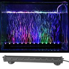 Colorful LED Bubble Air Stone Light Aquarium Lamp Changing Fish Tank Waterproof