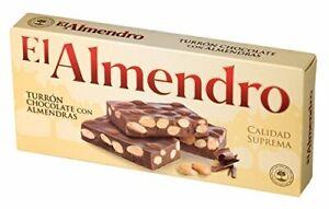 El Almendro Turron Chocolate con Almendras (200g) - Milk chocolate with roast...