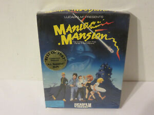 MANIAC MANSION LUCASFILM GAMES ARTS IBM PC TANDY VINTAGE 1988 BOXED NEW SEALED