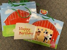Farm Barn Animal Country Birthday Party Gift Bags Set Of 14