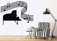 Large Vinyl Wall Sticker Music Room Piano Sheet Music Score (n166)