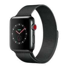 New Apple Watch Series 3 GPS + Cellular Stainless Steel 42mm Milanese Loop Black