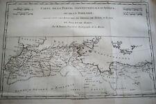 CARTE ANCIENNE MAROC ALGERIE TRIPOLI TUNIS FEZ RIGOBERT BONNE 1788 (R1190) MAP