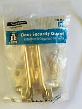 Door Guard for Extra Home Security Lock Brass Commercial Grade Sb1