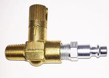 "Brass Air Tool Regulator with coupler 1/4"" for Pneumatic Rivet Gun Air Drill NEW"