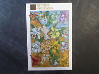 1990 GUYANA ORCHIDS OF GUYANA 16 STAMP SHEETLET MINT #1