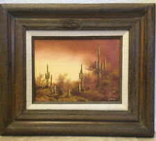 Southwest Listed Artist John Loo,Oil Painting On Canvas,Signed,