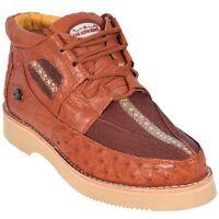 Men's Los Altos Genuine Handmade Stingray With Ostrich Lace Up Casual Shoe