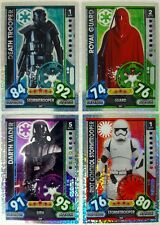Star Wars FORCE ATTAX UNIVERSE Holographic Foil Card Set of 32 Topps  2017