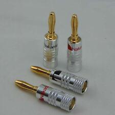 n.4 Connettori Nakamichi a banana per cavi potenza casse diffusori Hi fi audio