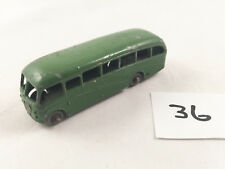 MATCHBOX LESNEY # 21B BEDFORD DUPLE LUXURY COACH LONDON-GLASGOW BUS GREEN 1958