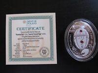 "2012 Nuie Island Faberge ""Rosebud Egg"" Proof Silver"