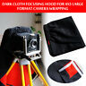 1PC Black Dark Cloth Focusing Hood For 4X5 Large Format Camera Wrapping 100cm