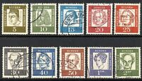 Germany 1961 Berlin Famous Germans Joblot collection of 10 Fine USED stamps