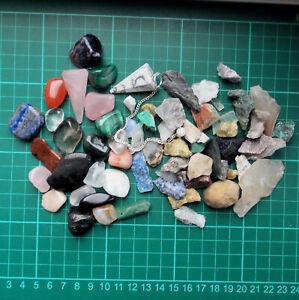 Auction Various Tumblestones Rough Crystals Polished Gemstones Dowsing 280g (1)