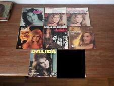 7x  disques anciens 45 tours RPM DALIDA années 60 et 70 (Lot 2/5)