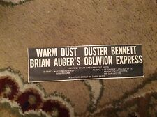U1-6 ephemera 1971 advert aston uni warm dust duster bennett brian auger