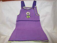 Purple Sleeveless Jumper Zackali Girl's Size 24 Months Sweater Like Feel