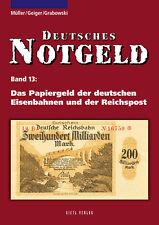 Deutsches Notgeld-Scheine Papiergeld der Eisenbahnen Reichspost Post Buch Book
