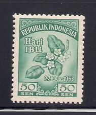 Indonesia 1953 Sc #401 Flowers VLH Scv. (3-4274)