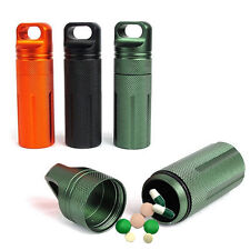 Waterproof Survival Cash Keys Matches Container Pill Box Capsule Storage Cases