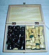 Schachfiguren aus dem Erzgebirge in Holzcassette König ca. 85 mm