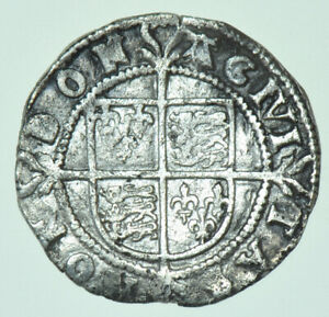 ELIZABETH I HALFGROAT (1582-1584), mm. A, BRITISH SILVER HAMMERED COIN GF/VF